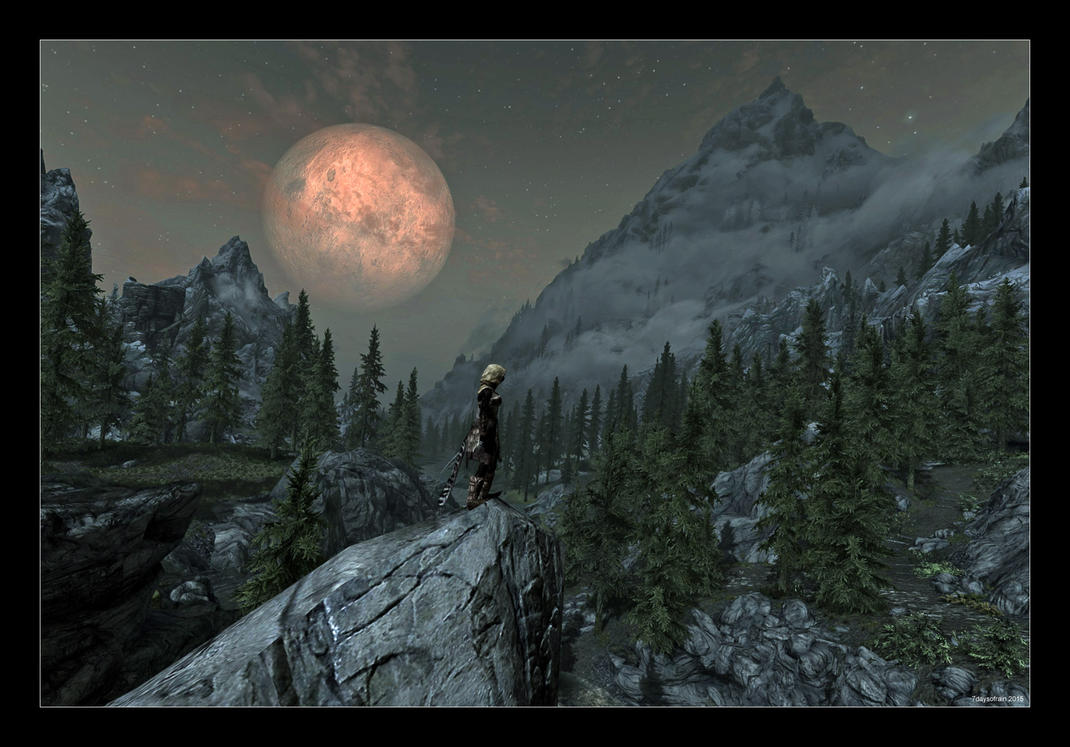 Full Moon over Riverwood by 7DaysOfRain
