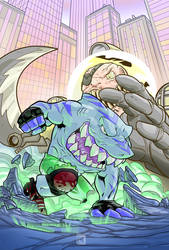 Street Sharks - Streex and dr.Piranha colored