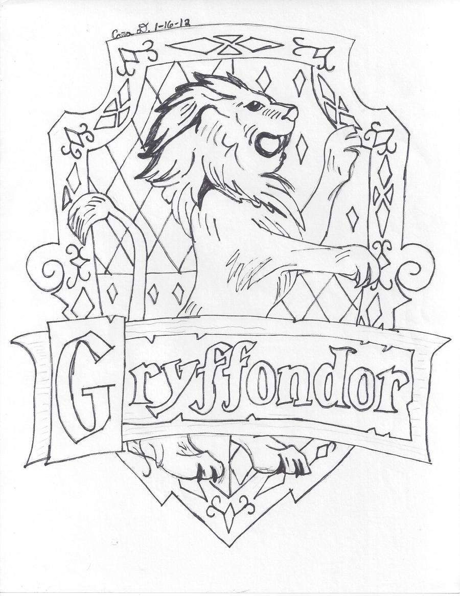 Gryffindor Logo Free Colouring Pages Gryffindor Coloring Pages