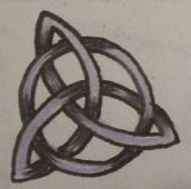 Celtic cross or triple goddess by kaosu666