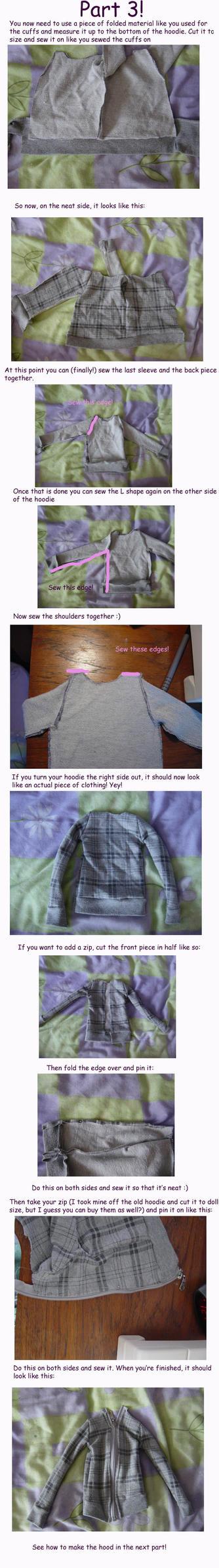 Doll hoodies tutorial Part 3 by KarenBJD