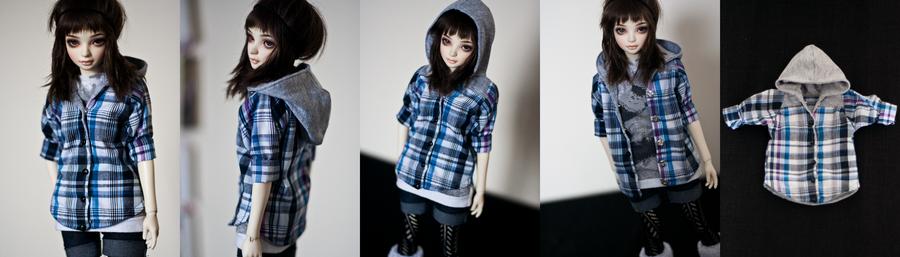Hooded Shirt (MSD) by KarenBJD