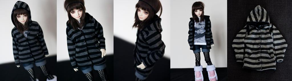 Striped Hoodie (MSD) by KarenBJD