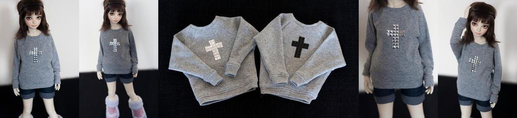 Studded cross sweater (MSD) by KarenBJD