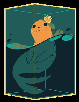 Seal Cubie (Teal)
