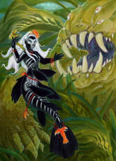 Voodoo Mermaid Doll by dhstein