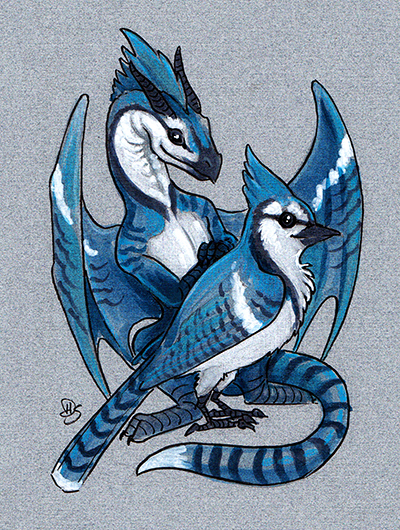 Blue Jay Dragon by dhstein