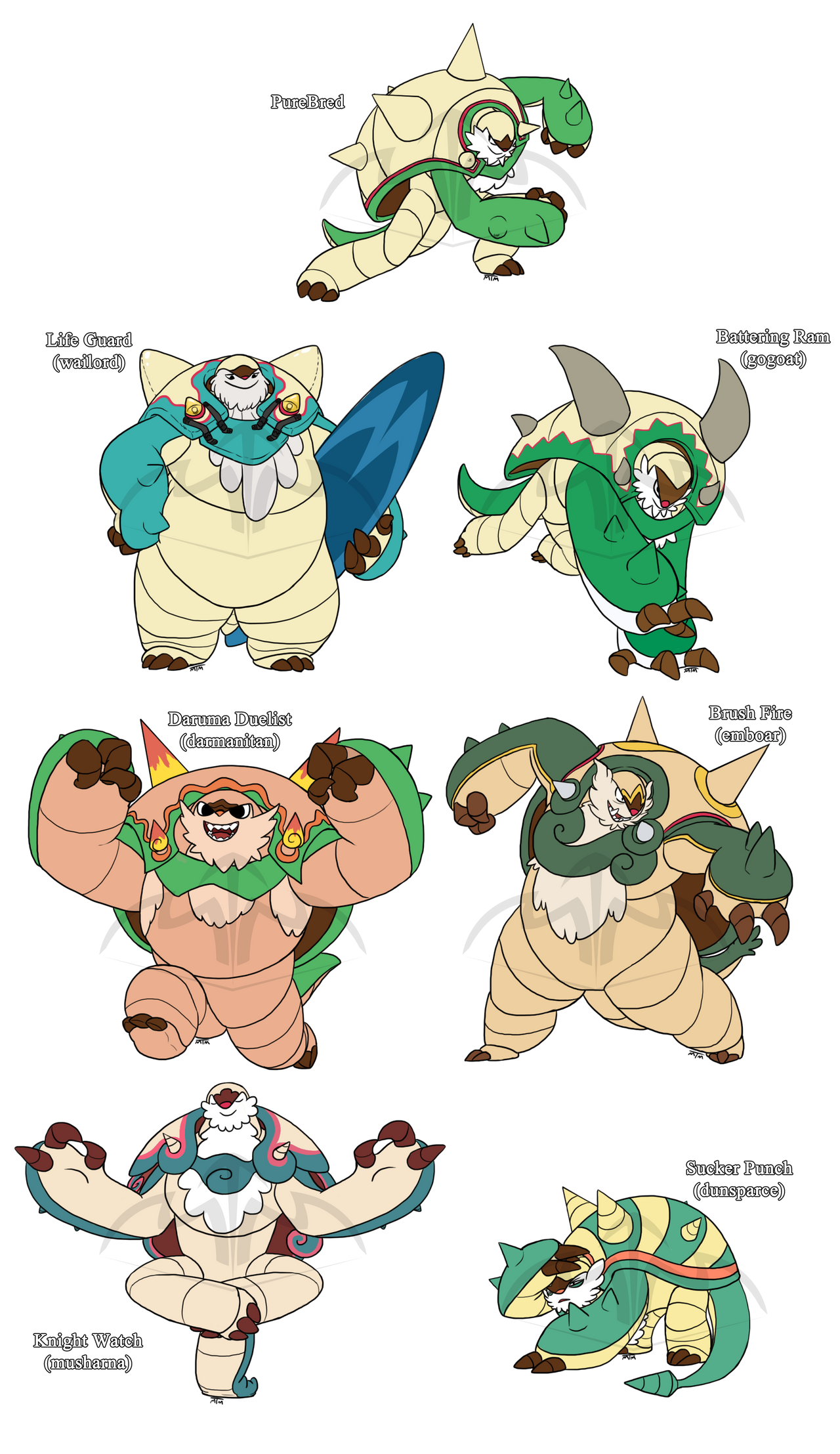 Chesnaught Variants By Mariannefosho On Deviantart
