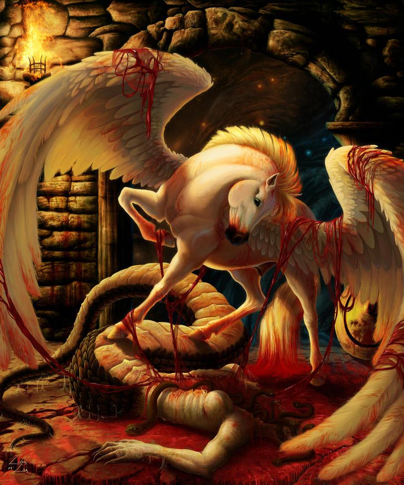 Birth Of Pegasus by LindaLisa