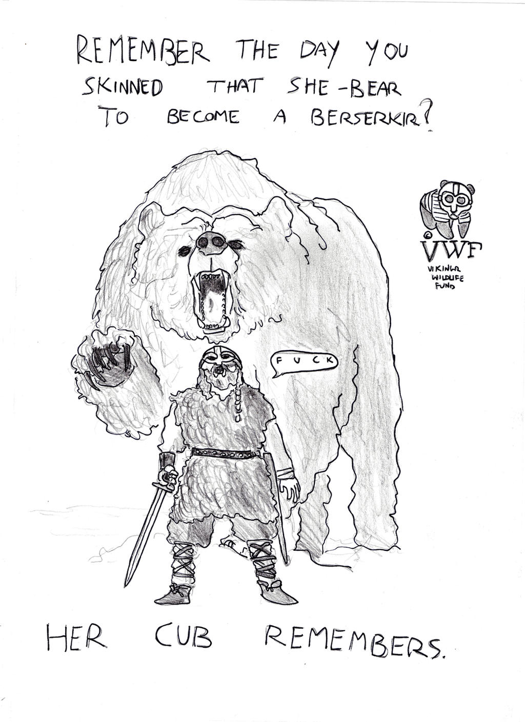 Vikingr vs Reality: Berserkir vs Bear by FritzVicari