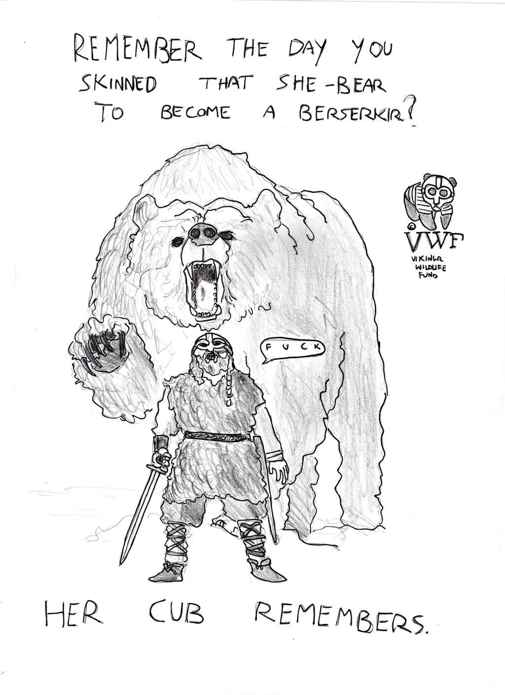 Vikingr vs Reality: Berserkir vs Bear by FritzVicari