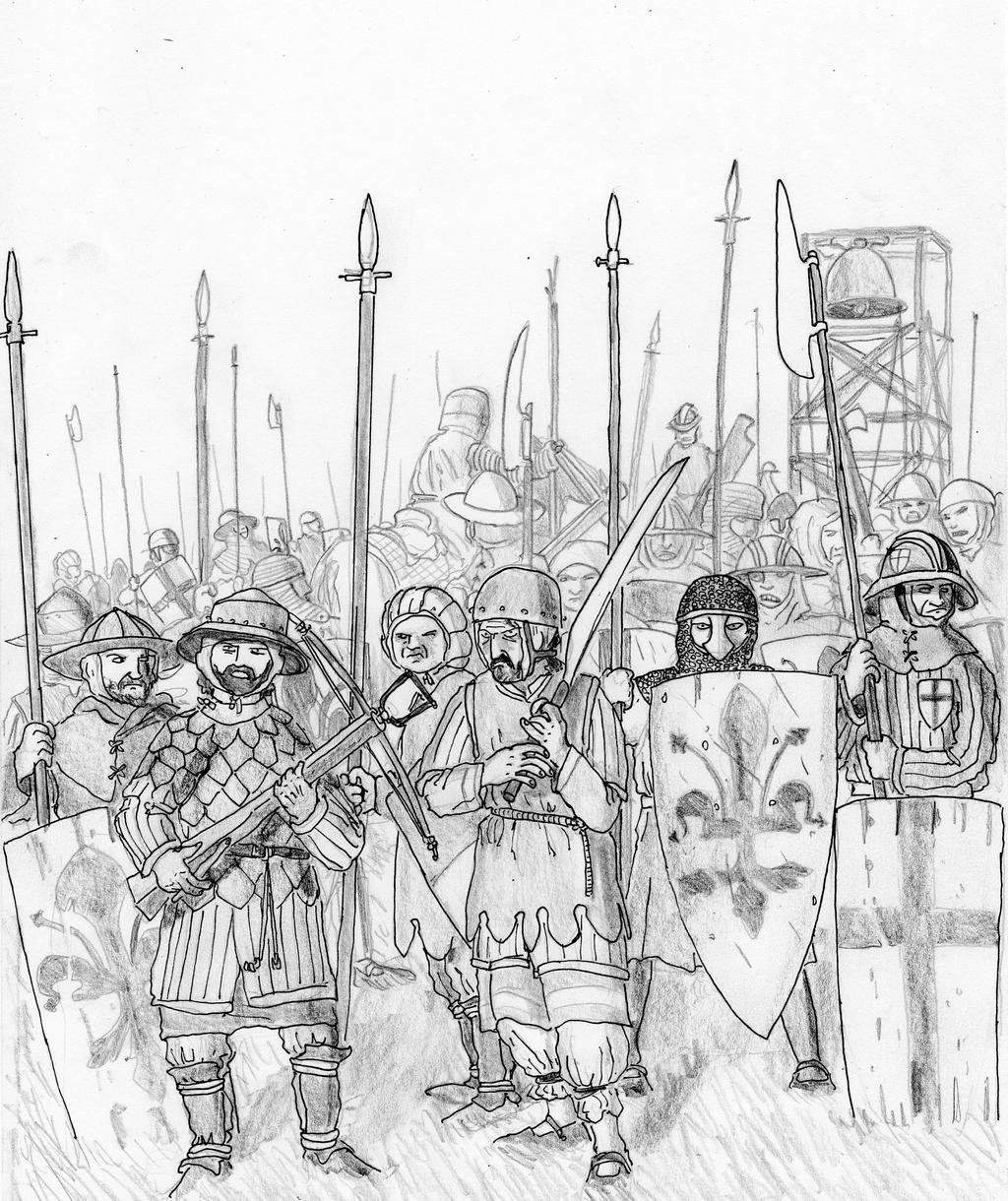 Guelphs' Last Stand at Montaperti, 1260 AD by FritzVicari ...