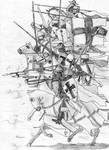 Teutons charging across the frozen Peipus, 1242