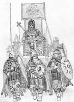 A Basileus' Triumph, Costantinopolis, 1261 AD by FritzVicari
