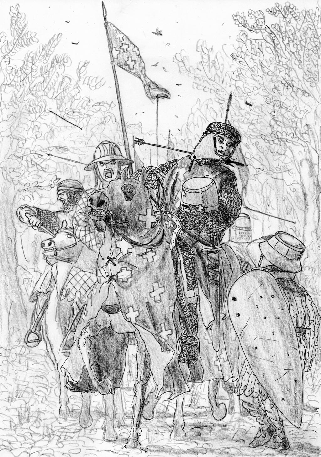 Battle of Cadfan, 1257 AD by FritzVicari