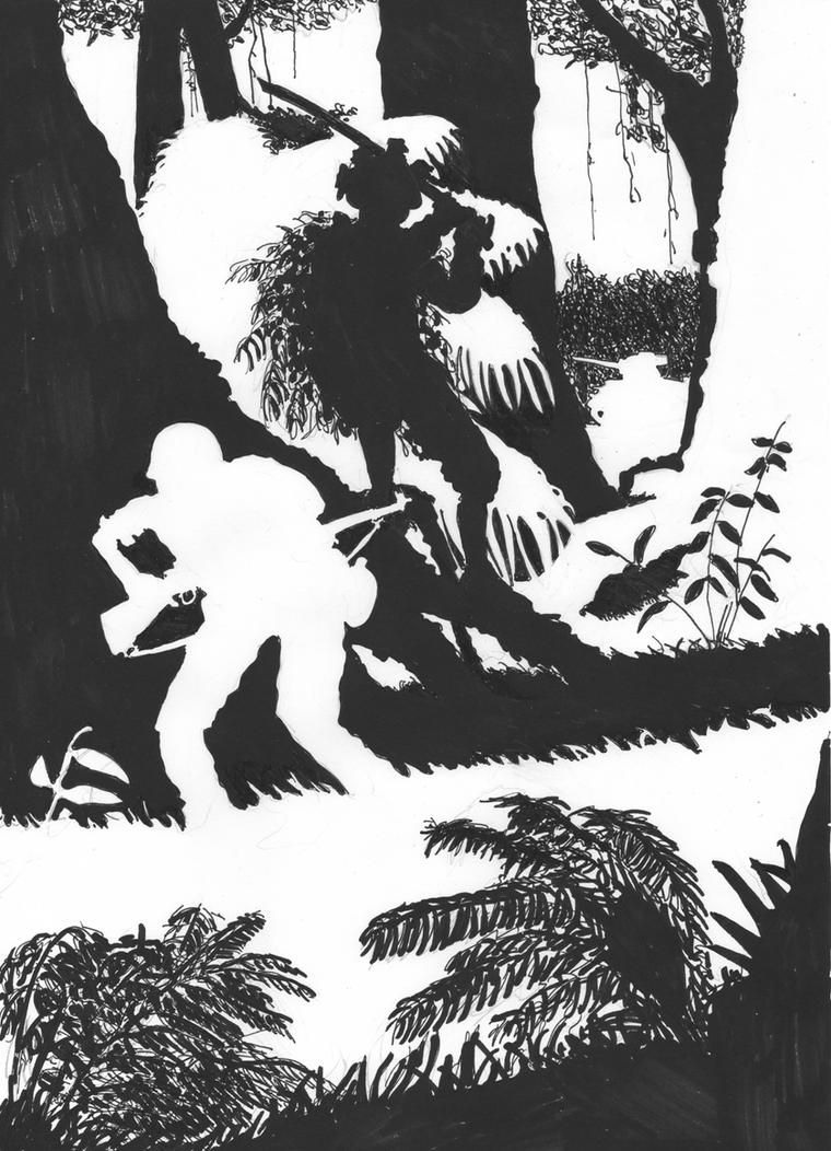 Silhouette - Jungle Ambush by FritzVicari