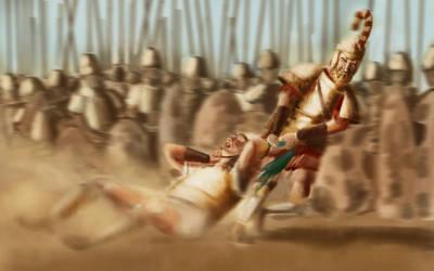 Menelaus strangles Paris, Iliad, III, 369-375
