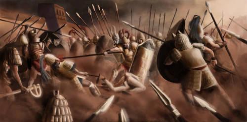 Battle for Patroclus' body, Iliad, XVII, 290-365