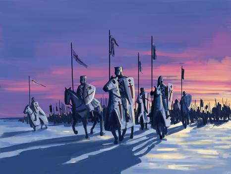 Across the Frozen Baltic Sea, 1227