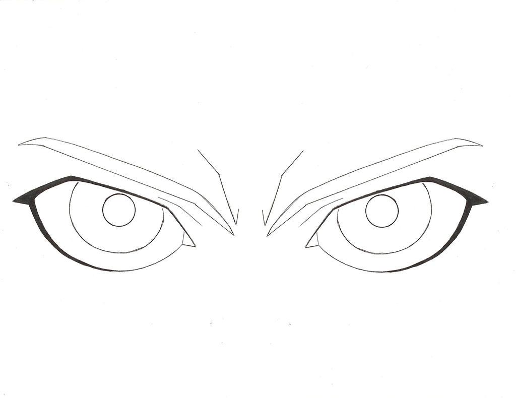 anime demon eyes drawings sketch coloring page