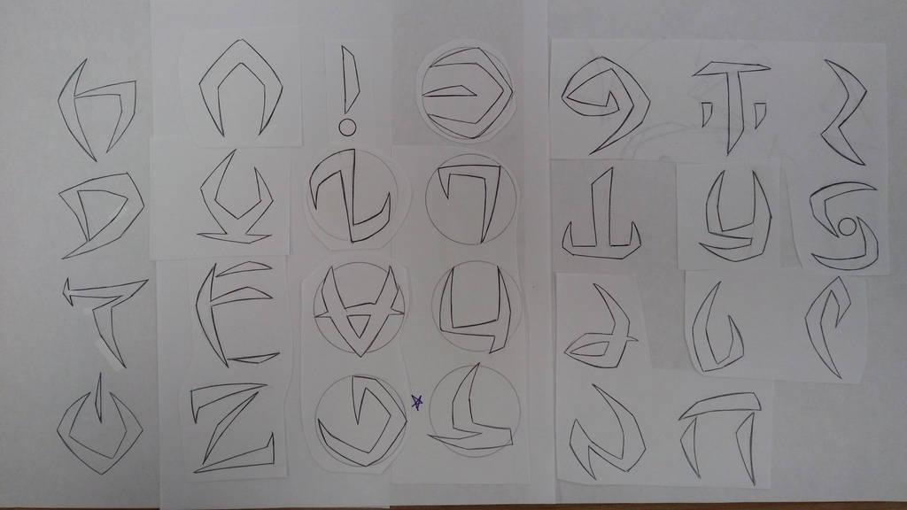 Demon Alphabet 01 by Zeartist