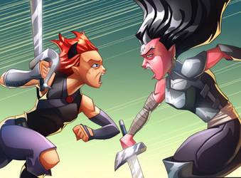 Morgalla vs Xia - color