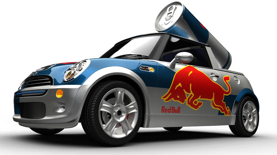 red bull mini cooper by joeythx on deviantart. Black Bedroom Furniture Sets. Home Design Ideas