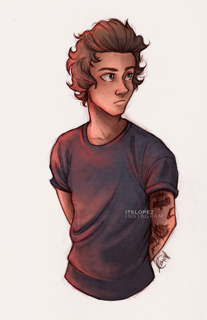 Scribble Drawing Style : Harry by itslopez on deviantart
