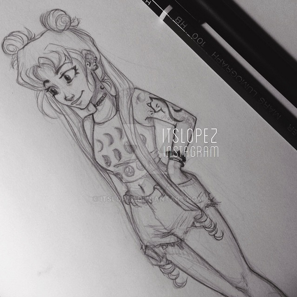 Scribble Drawing Instagram : Usagi tsukino by itslopez on deviantart