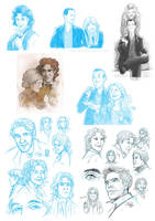 Sketchdump: Doctor Who Edition II by Pretty-Angel