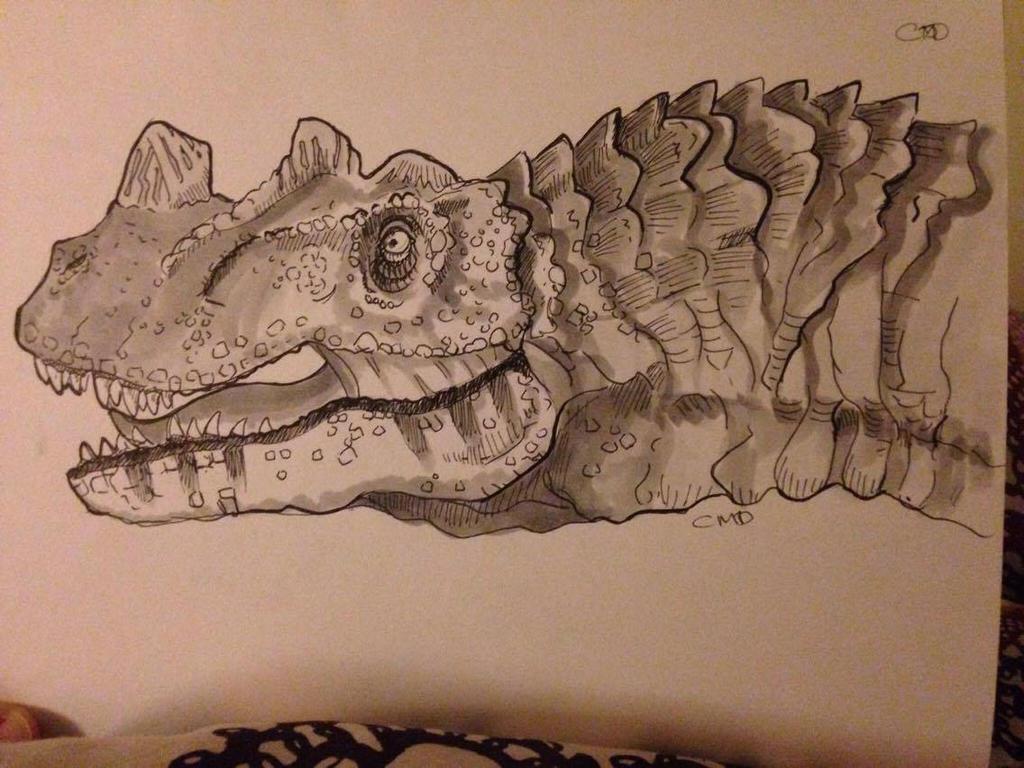 Day #16  Inktober -  Ceratosaurus by Ginger-Ketchup