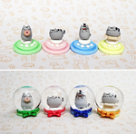 Pusheens in Snow Globes