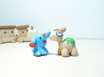 Commission: Handmade Polymer Clay Numel and Phanpy