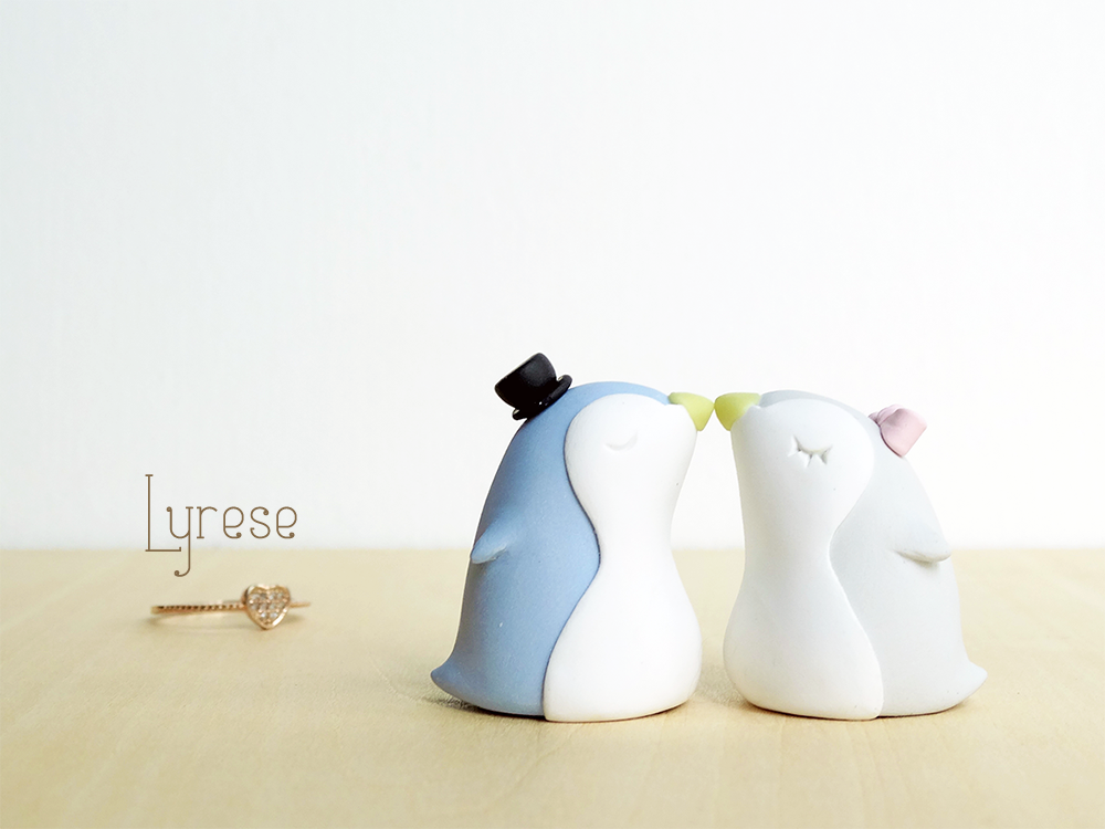 Penguins Cake Topper by lyrese