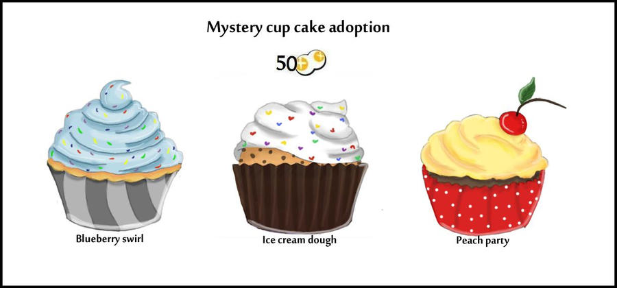 Cup cake adoption (Closed) by Glowzor