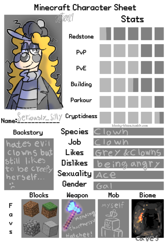 Minesona Character Sheet by DragonOberg on DeviantArt