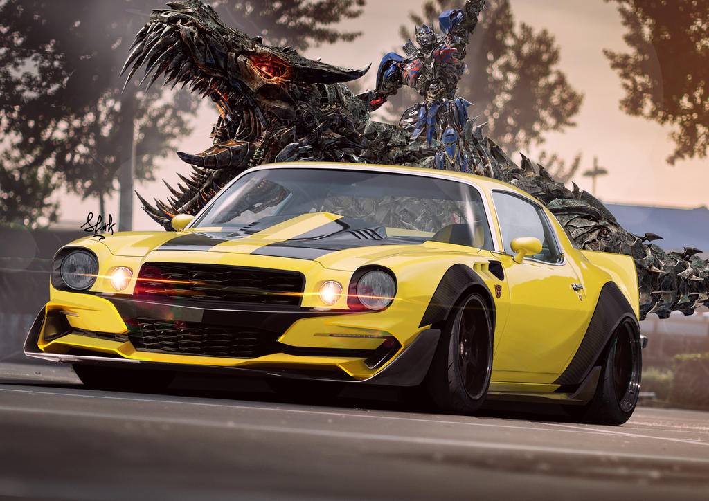 Chevrolet Camaro 1975 Bumblebee Transformers By Mm1221uu On