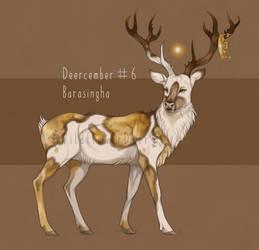 (OPEN adopt) Deercember #6 - Barasingha by WildflowerDeer