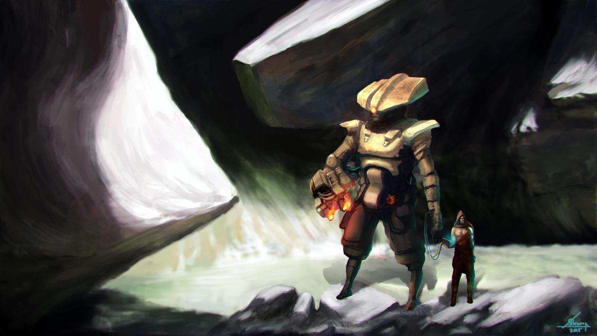 Robotic Humanoid by Melancholeric