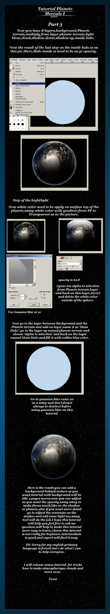 Tutorial gimp Planete Part 3 by FrostBo