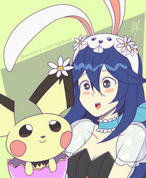 Spring Lucina and Pichu by RayDango