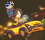 Mii Gunner in Sport Coupe(commission) by RayDango