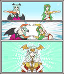Morrigan and Palutena Fusion Dance(commission)