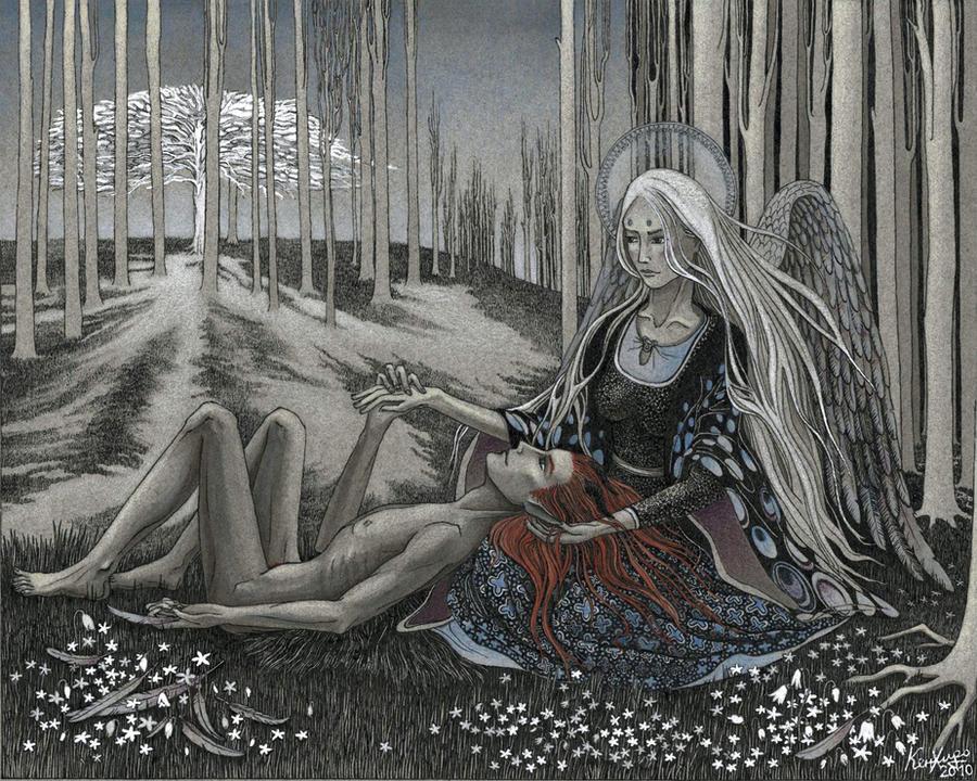 Aasimar and tiefling by Valentina-Mustajarvi
