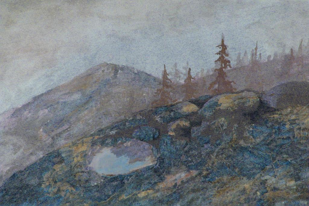Misty morning on the island by Valentina-Mustajarvi