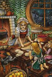 Evening cakes in Frogmorton by Valentina-Mustajarvi