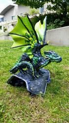 Green Shoulder Dragon Custom by AstridMakosla