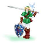 Link with Bigoron sword