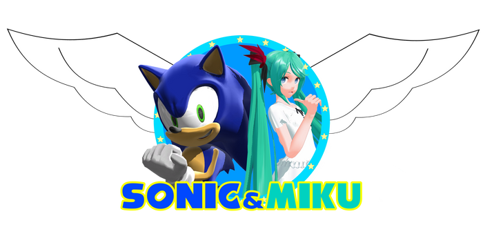 Sonic and Miku logo