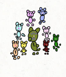 The rainbow critters